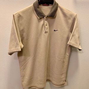 Vintage Nike Cream Colored Polo Golf Shirt